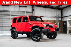 Lifted 2016 Jeep Wrangler 4WD Unlimited Sahara  $40,988