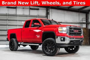Lifted 2015 GMC Sierra 1500 4x4 Double Cab SLE Z71  $36,488