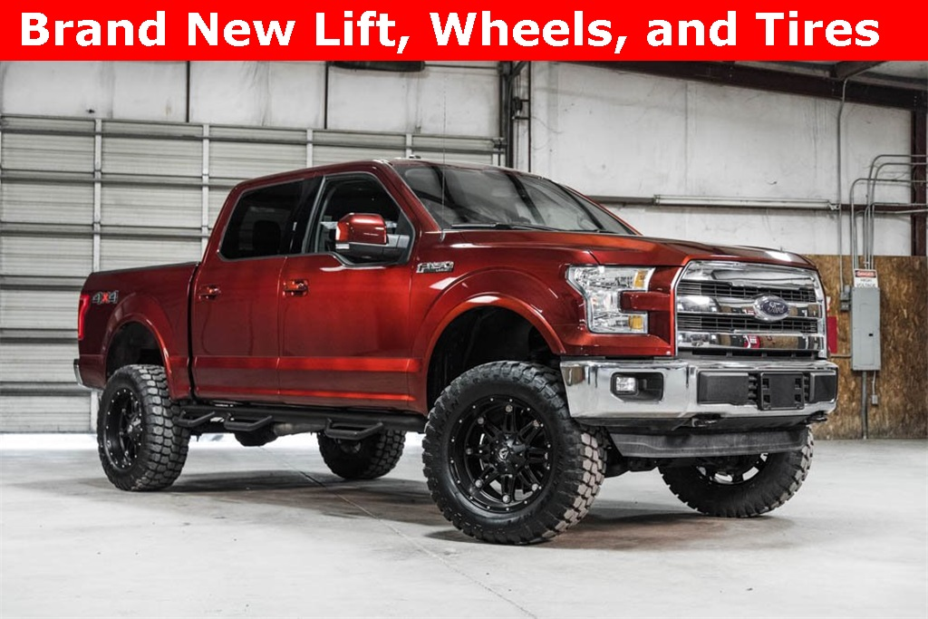 Lifted 2016 Ford F-150 4x4 SuperCrew Lariat