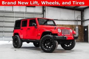 Lifted 2016 Jeep Wrangler 4WD Unlimited Sahara  $38,988