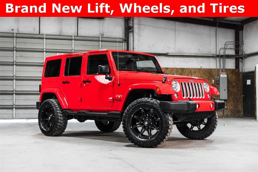 Lifted 2016 Jeep Wrangler Unlimited Sahara