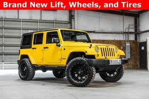Lifted 2015 Jeep Wrangler 4WD Unlimited Sahara  $33,000