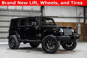 Lifted 2016 Jeep Wrangler 4WD Unlimited Sahara  $37,190