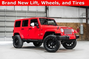 Lifted 2016 Jeep Wrangler 4WD Unlimited Sahara  $39,488