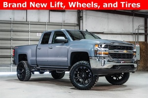 Lifted 2016 Chevrolet Silverado 1500 4x4 Double Cab LT  $37,555