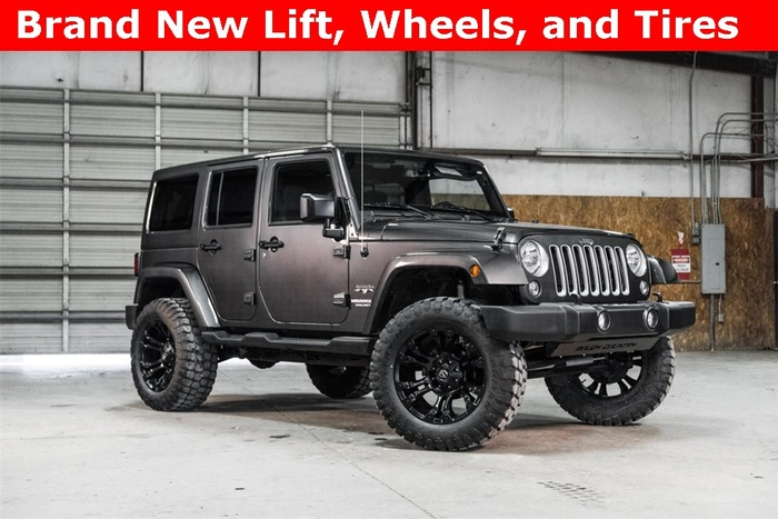Lifted 2016 Jeep Wrangler 4WD Unlimited Sahara  $38,051