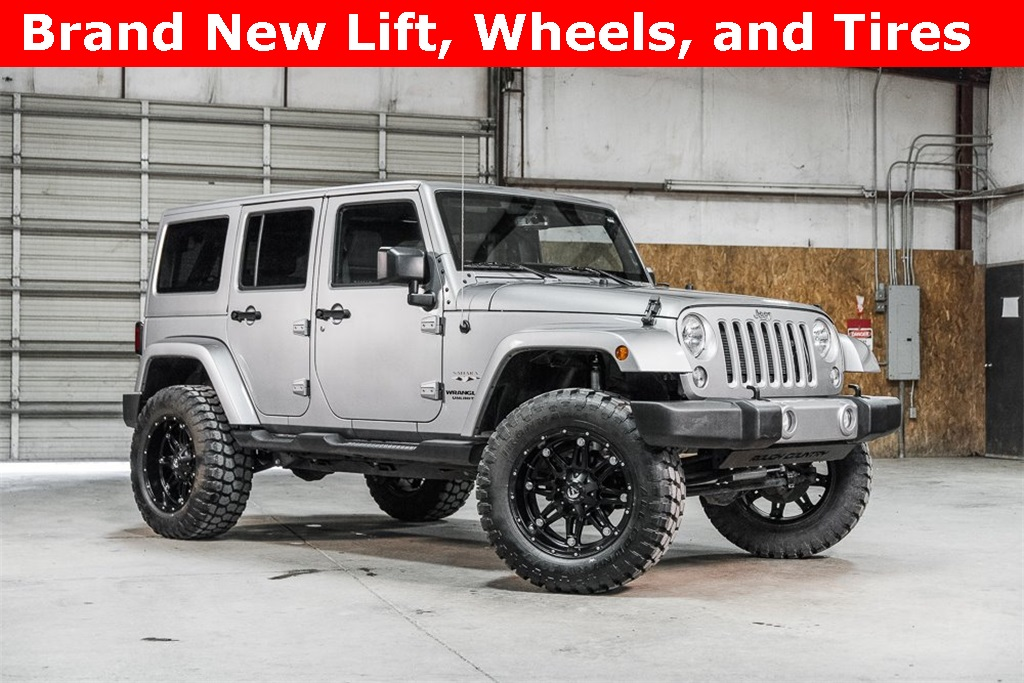 Lifted 2016 Jeep Wrangler 4WD Unlimited Sahara