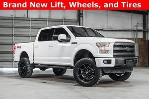 Lifted 2015 Ford F-150 4x4 SuperCrew Lariat FX4  $44,017