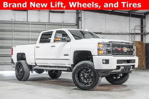 Lifted 2016 Chevrolet Silverado 2500HD 4x4 Crew Cab High Country  $63,978