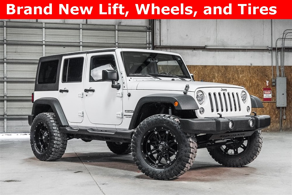 Lifted 2016 Jeep Wrangler 4WD Unlimited Sport