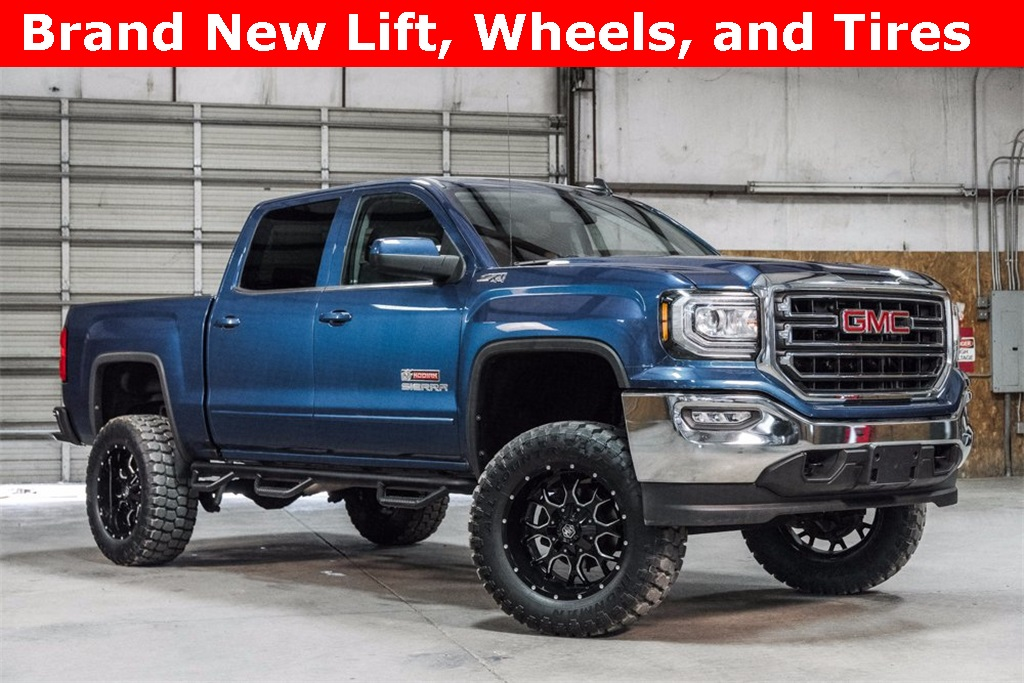 Lifted 2016 GMC Sierra 1500 4x4 Crew Cab SLE