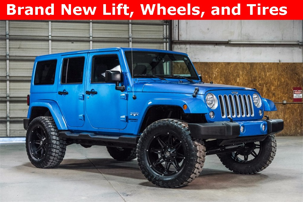 Lifted 2016 Jeep Wrangler 4x4 Unlimited Sahara