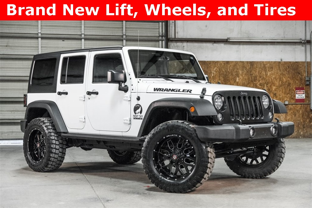 Lifted 2016 Jeep Wrangler 4x4 Unlimited Sport